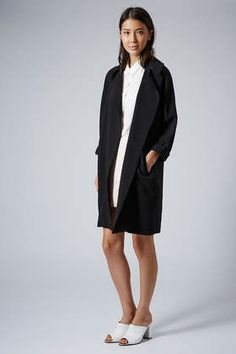 Crimped Duster Coat
