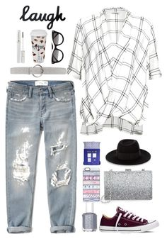 """If we bring it back"" by kozma-kincso-eszter ❤ liked on Polyvore featuring Abercrombie & Fitch, Great Plains, Orciani, Lancôme, Könitz, Converse, Essie, Sondra Roberts, STELLA McCARTNEY and Casetify"