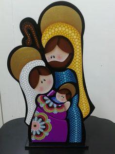 Christmas Rock, Christmas Nativity, Christmas Time, Christmas Crafts, Mandala Art Lesson, Felt Christmas Decorations, Rock And Pebbles, Christian Christmas, Dot Art Painting