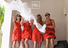 Bridal Party at Secrets Silversand....girlz just wanna have FUN!!!  Mayan Riviera. Mexico MTM Photography in Mayan Riviera Wedding Photographer. Wedding Photographer photos in Cancun, Playa del Carmen, Puerto Morelos, Puerto Aventuras and Tulum. www.MomentsThatMatterPhotography.com