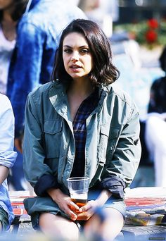 Mila Kunis on set of The Spy Who Dumped Me in Amsterdam on August 31th, 2017.