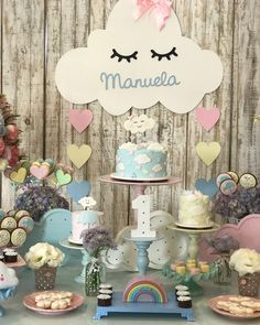 Vai ter #overposting Deslizem nas fotos ➡️➡️➡️➡️ #chuvadeamor #festainfantil #festakids #partyplanner #festa #festachuvadeamor #decoracao #partydecor #surpresasdaluflores Diy Birthday Banner, Rainbow Birthday Party, 1st Birthday Parties, Baby Shower Cakes, Baby Shower Themes, Baby Shower Decorations, Cloud Party, Gender Reveal Decorations, Hello Kitty Birthday