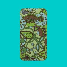 Minty Greens Floral Iphone 4 Case