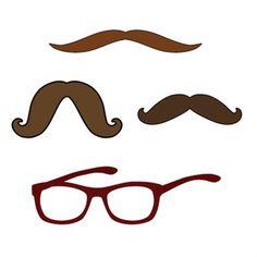 Mustaches & Glasses Digital Cartridge for Cricut Craft Room