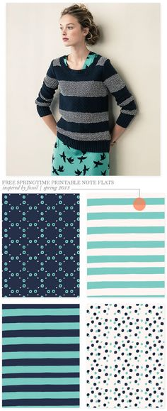 Free Springtime Printables Inspired by Fossil Spring 2013 -Creature Comforts Palette Pastel, Spring Color Palette, Spring Colors, Color Palettes, Bright Spring, Clear Spring, Stationery Design, Color Azul, Urban Outfits