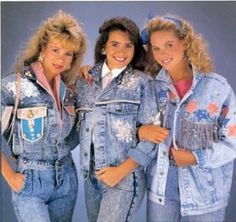 Denim on Denim...the fashion statement is that you just don't care anymore