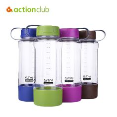 Actionclub 2016 Sport Water Bottle Plus Capacity Bottles My Colorful Health Bottle Shaker Frosted Plastic  650ML Kettle HH1526