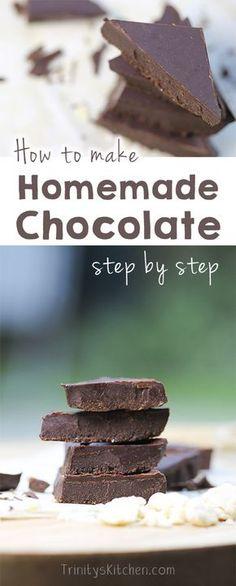 Homemade Chocolate -- [gluten-free, dairy-free, vegan, vegetarian, paleo, raw, grain-free, nut-free]