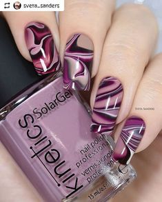 17 + Nail Polish Declares Its Kingdom In Fashion World., 17 + Nail Polish Declares Its Kingdom In Fashion World. - 1 By the time we approach nail polish is declaring its kingdom in the fashion world. Creative Nail Designs, Beautiful Nail Designs, Creative Nails, Nail Art Designs, Nails Design, Purple Nail Art, Purple Nail Designs, Stylish Nails, Trendy Nails