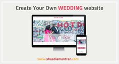 Create your wedding website in less than 2 minute with http://shaadiamantran.com/