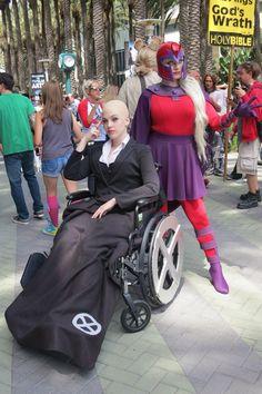 Ladies Professor X and Magneto. #Rule63