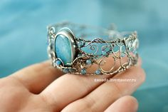 """""""Heaven"""" Silver bracelet with agates 