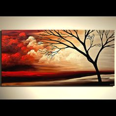 Tree Painting Original Abstract Landscape Painting