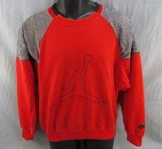 d785485b9ecd Vintage Nike Michael Air Jordan Sweatshirt M Adult Medium Red 1980 s  Jumpman  Nike  SweatshirtCrew