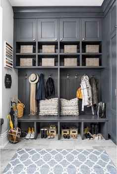 Large mudroom with ample storage space for off-season gear...