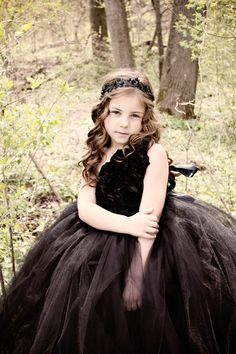 Noir  Black Tutu Dress by PoufCouture on Etsy, $119.95