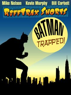 The fourth in the #Batman Shorts series for #RiffTrax, Batman: Trapped! is NOW AVAILABLE! Here is the poster I designed for it.  http://www.rifftrax.com/shorts/batman-trapped