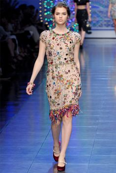 Dolce & Gabbana i belive Nina Garcia was wearing this dress in the first episode of season 10 project runway! i adore this dress its so quircky