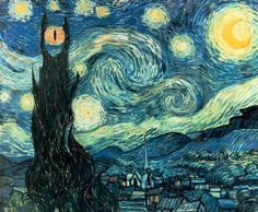 Starry night in middle Earth