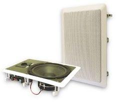 """FINN – Audioplex AT-880S innfelt sub - høyttaler 8"""" veggmontert m/ stereo delefilter"""