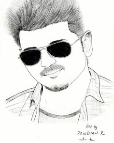 8 Best Vijay Images Sketches Amazing Drawings Draw