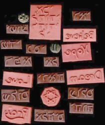 Make your own polymer clay stamps... I've done this before, but it definitely took more work.... This is way simpler.