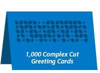 1,000 Complex Cut Greeting Cards