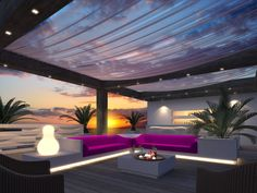 Beachclub with Platoflex elements: couch, walls, coffeetable, planterboxes...