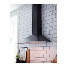 VINDRUM Wall mounted extractor hood, dark grey - IKEA