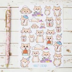 Decorate your planner journal or other items with these cute little Lottie the pomeranian stickers. Perfect for when your journal pages just need that... I dont even know. Miss Lottie enjoys eating snacks, shopping, begging for treats and eating more snacks.  Please note that there are limited numbers of these sheets available and some designs will not be restocked so get in now if you see one that you like…