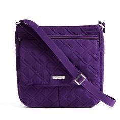 4e7e8aa9cc5e Vera Bradley Microfiber Double Zip Mailbag Crossbody Bag in Clothing
