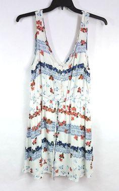 O'Neill Women White Floral Pashina Dress Size L Large New #ONeill