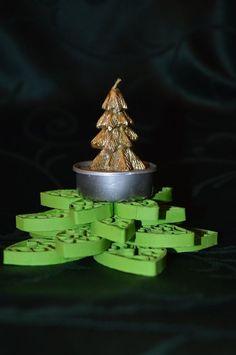 sapin de Noël en papier roulé (paperolle) Christmas tree quilling