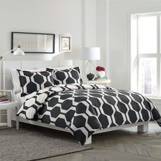 City Scene Obsidian Reversible Cotton 3-piece Duvet Cover Set - Overstock™ Shopping - Great Deals on City Scene Duvet Covers