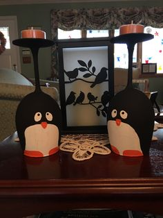 A personal favorite from my Etsy shop https://www.etsy.com/listing/482070253/penguin-wine-glass-tealights