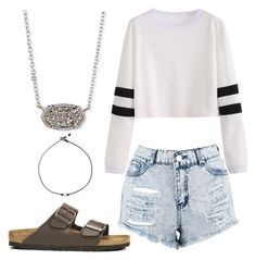 """""""HS Outfits"""" by riniu on Polyvore featuring beauty, Boohoo, Birkenstock and Kendra Scott"""