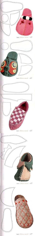 Varios modelos en zapatillas - Artesanía