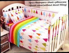43.80$  Watch now - http://ali9zl.worldwells.pw/go.php?t=32619213483 - Promotion! 6/7PCS cotton crib bedding set ,infant nursery set,baby bedding set bumper, 120*60/120*70cm 43.80$