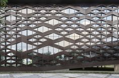 Image 1 of 42 from gallery of Xinglong Visitor Center / Atelier Alter. Courtesy of Atelier Alter Building Skin, Building Facade, Building Design, Glass Building, Mall Facade, Concrete Facade, Best Build, Exterior, Facade Architecture