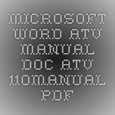 110cc ATV Adustments Manual Kids Atv, Microsoft Word, Teaching Art, Word Art, Periodic Table, Diagram, Words, Crayons, Manual
