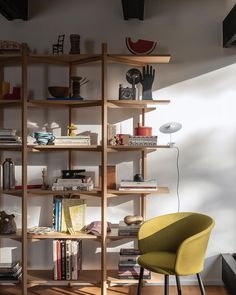 "Hem on Instagram: ""A collector's favorite: our Zig Zag Shelf by @studiodeform with @lucidipevere's Kendo Chair."" Modern Classic, All Modern, Zig Zag Shelf, House Of Tomorrow, Swedish Design, Home Reno, Contemporary Furniture, Furniture Making, Furniture Design"