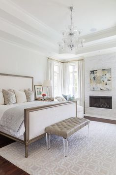 Marble bedroom fireplace