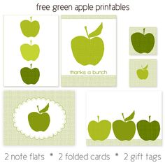Green apple printables