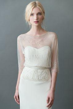 Lorna Beaded Bridal Top by Jenny Yoo | Wear it 2 Ways!