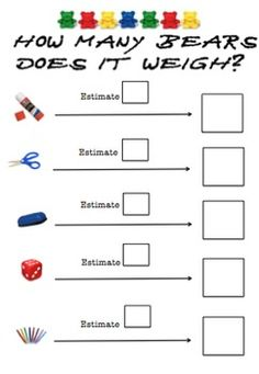 Measure and compare the lengths and capacities of pairs of objects using uniform informal units and order several shapes and objects based on length, area, volume and capacity using appropriate uniform informal units Measurement Kindergarten, Measurement Activities, Math Measurement, Kindergarten Math, Teaching Math, Math Activities, Primary Teaching, Teaching Tips, Maths Eyfs