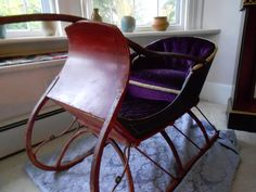 Antique Victorian Child's Sleigh -  Stunning !