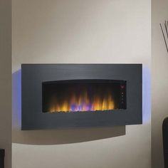 Classic Flame Transcendence Stainless Steel Electric Wall Hanging Fireplace | from hayneedle.com