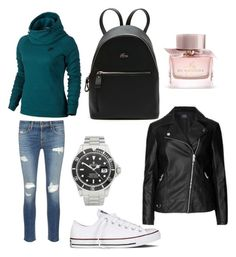 """""""Sunday walk"""" by explorer-15098277769 on Polyvore featuring rag & bone/JEAN, NIKE, Converse, Lacoste, Rolex and Burberry"""