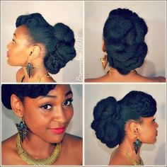Love how complicated this natural updo looks.
