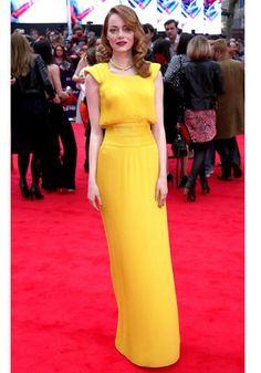 Emma Stone's Style Transformation: 10 Apr 2014 - The Amazing Spider-Man 2 Film World Premiere, London